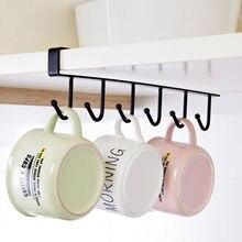 Кухонный стеллаж для хранения шкаф с подвесной полкой-крюком вешалка для посуды Органайзер держатель