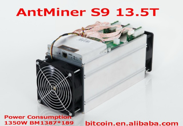 AntMiner S9 13.5Th/s Basically reach 14T New 13500Gh/s Asic Miner, Bitcon Miner,16nm BTC Mining,Power Consumption 1350W SHA256