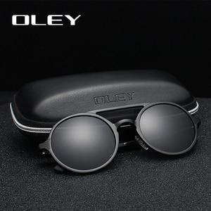 Image 1 - OLEY Brand New Men Round Aluminum Magnesium Polarized Sunglasses Fashion Retro Women Sun Glasses Anti glare Unisex Goggles