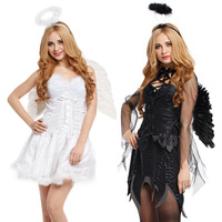 Free Shipping During The Day To Suit Cosplay Party Dance Costumes Female Halloween Fallen Angel Dress