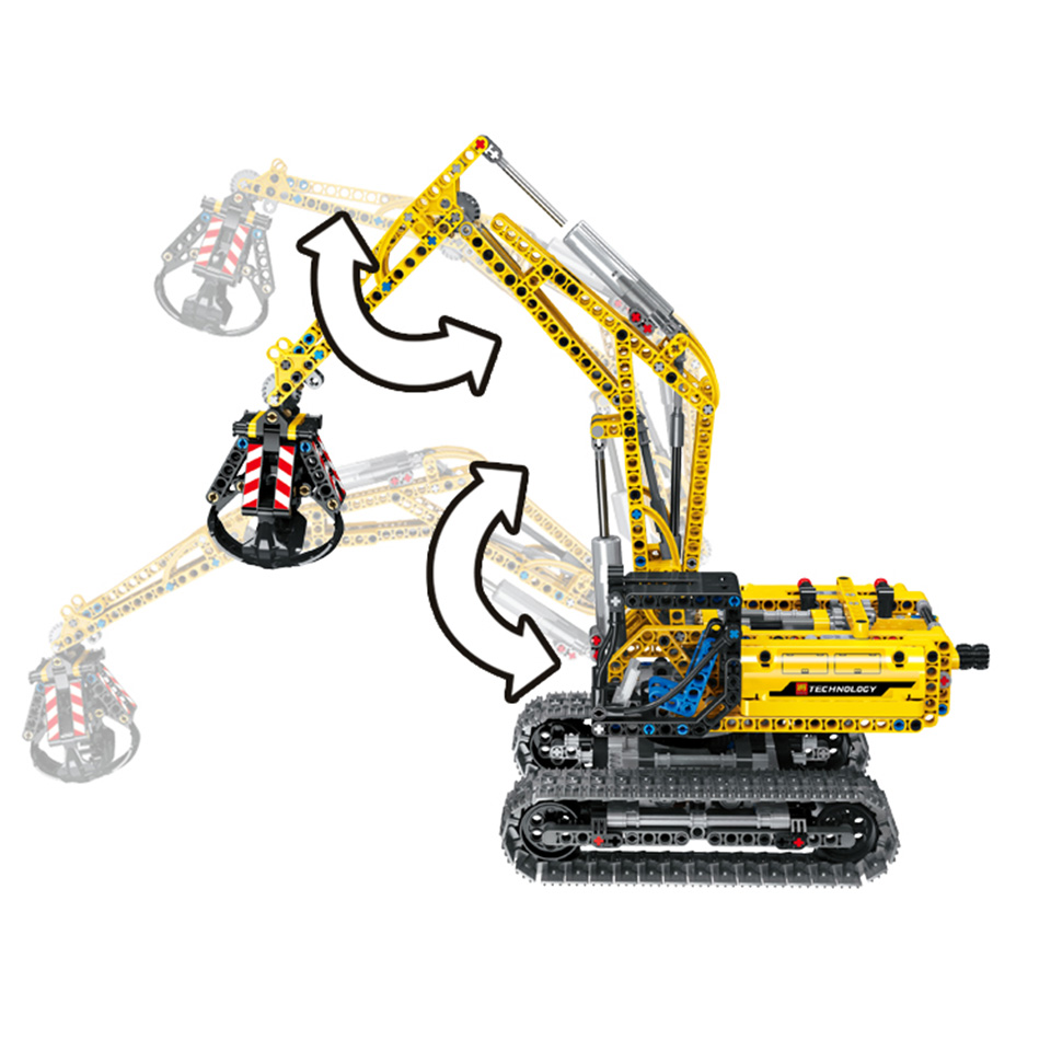 Image 3 - Excavator Car Compatible With Legoing Technic 42006 Truck Model Building Blocks Boys Birthday Gifts Toys For Children-in Blocks from Toys & Hobbies
