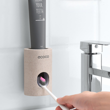 Dispensador de pasta de dentes automático para acessórios do banheiro plástico creme dental squeezer fixado na parede titular tubo squeezer