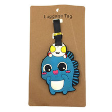 Cartoon Animal Dinosaur Luggage Tags Travel Accessories Silica Gel Suitcase Kawaii ID Addres Holder Baggage Boarding Portable(China)