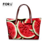 Sweet Red Watermelon Strawberry Printed Summer Beach Women Handbags Casual Tote Bags Large Capacity Ladies Funny