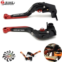 Universal Monster Motorcycle Parts Aluminum Adjustable Foldable Extendable Brake Clutch Levers For Ducati Monster 696 695