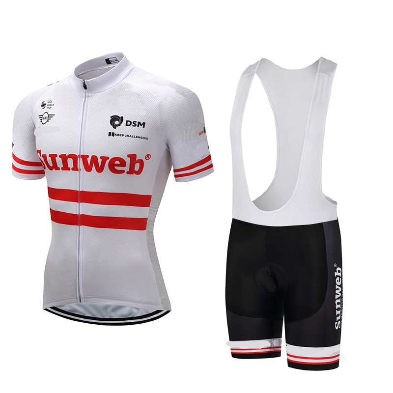 Cycling Jersey Shirt 2017 Pro Team White Cycling Clothing Men Summer Bike Bicycle Cycling Set Short Cycling Team Jersey