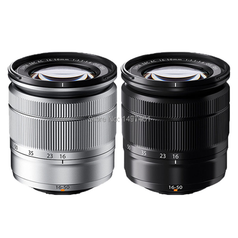 Silver/Black XC 16-50mmF3.5-5.6 OIS II Zoom Lens (XC 16-50) For Fujifilm X-A3 X-A5 X-T1 X-T2 X-T10 X-T20 X-T30 X-A20 X-E2 Camera