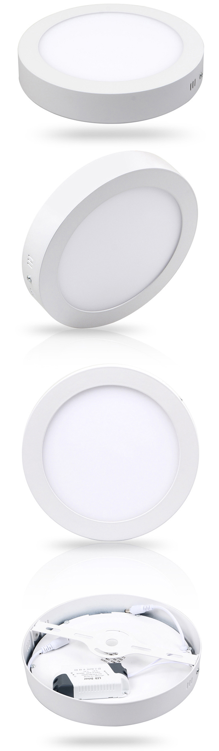 LED Panel Round Wall 6w 12w 18w Warm Light//Cold//Natural Spotlight mapam