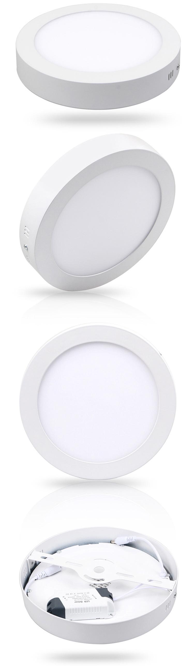 LED Panel Round Wall 6w 12w 18w Warm Light//Cold//Natural Spotlight mapam