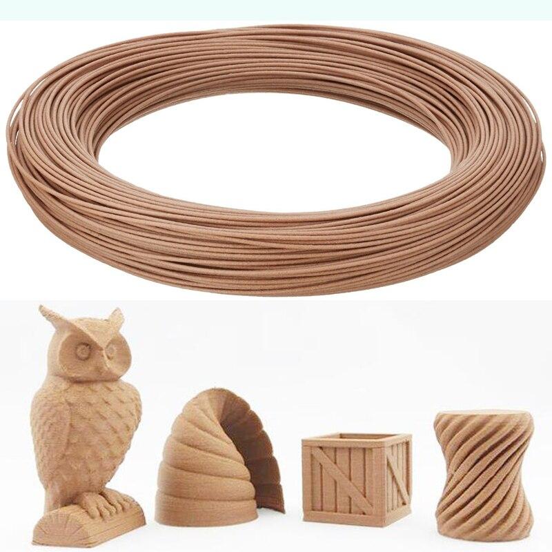 20 real wood powder 1 75mm wood filament 3d printer wood pla filament impressora 3d filamento 3d plastic filament 50g roll in 3D Printing Materials from Computer Office