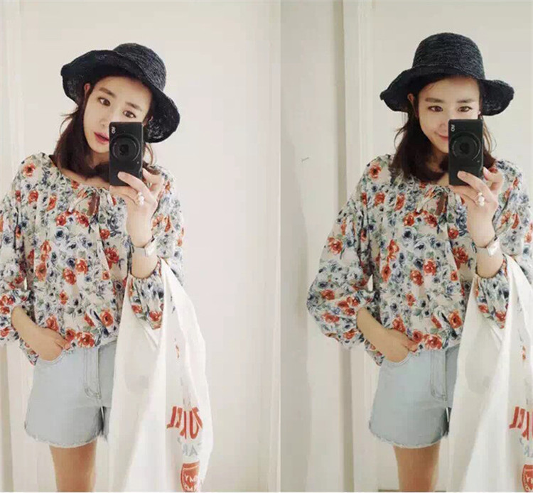 Summer New Style Hat Lady Cotton Collapsible Sun Protection Hat Outdoor Travel Casual Beach Bucket Hats ACF17 (4)