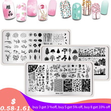 Harunouta Nail Art Stamping Plates Floral Animal Cartoon Line Image DIY Template Nails One Stamp Plate Stencils for Manicure ocean theme nail stamping plate stencils animal nail stamp template big size image plates manicure diy nail art design