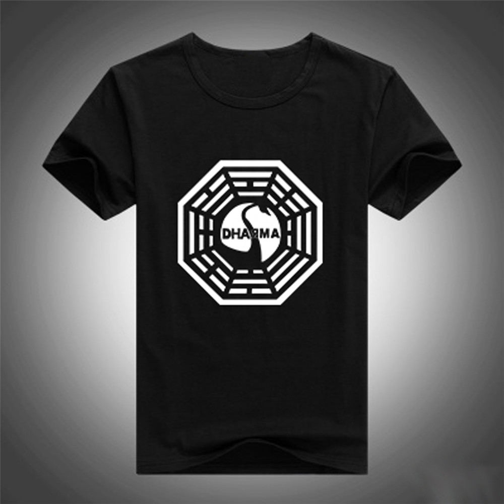 TV Play Lost T Shirts DHARMA Logo Print T-shirts