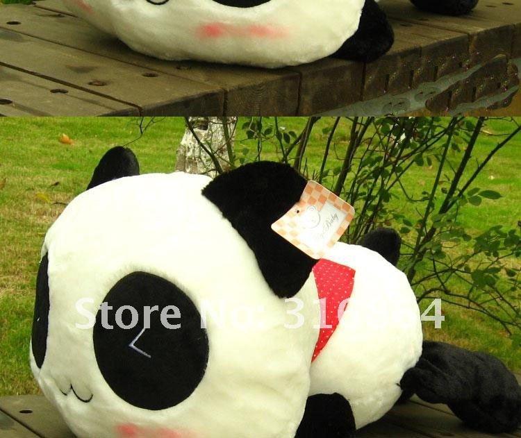 ФОТО 55cm plush toy Christmas gift Lovely dropped panda pillow cushion for leaning on nuking panda plush toys freeshipping