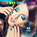 Hot sales  Magnetic powder nail gel polish UV/LED 1Pcs 6ml Cat eyes 48 Color Healthy Gel Lacquer color