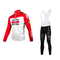 spring autumn 2018 new pro team lotto red cycling jersey sets long sleeve Ropa Ciclismo quick dry MTB bike clothing kits GEL pad