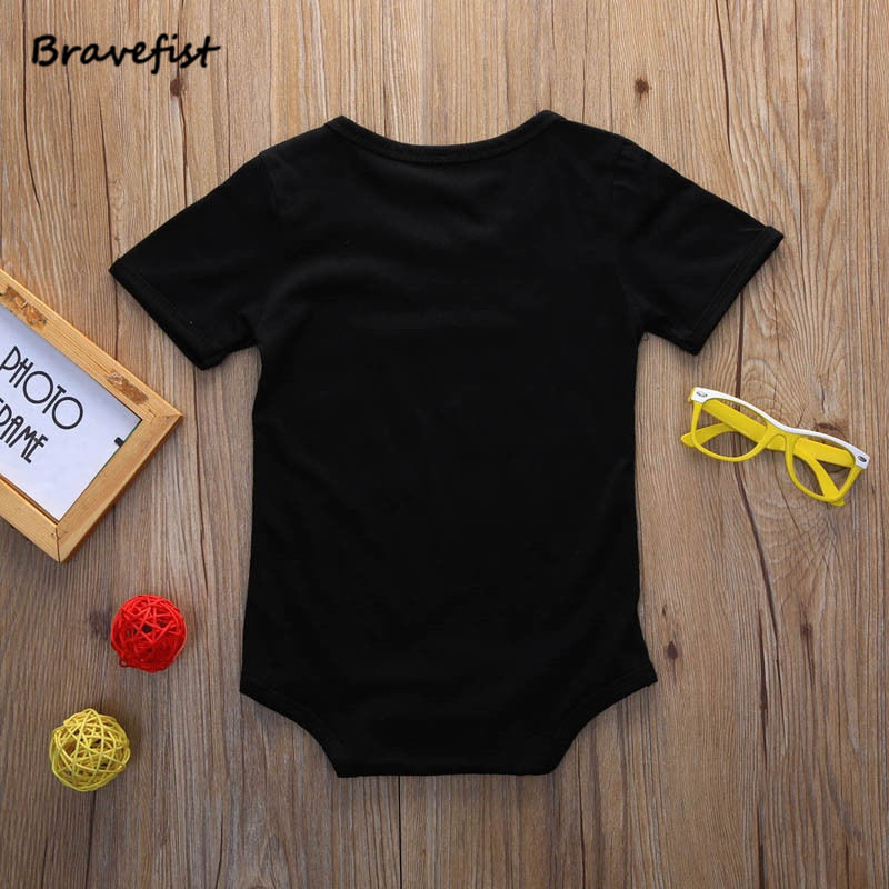 2018 Newborn Rompers Baby Jumpsuit Cotton Black Summer Clothing Tracksuit For Boys And Girls 0-12-24 Months Baby Onesies Outwear