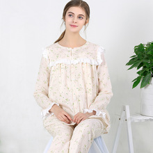 Cotton pregnant women breastfeeding pajamas long sleeve + pants suit cardigan camison lactancia maternity dress