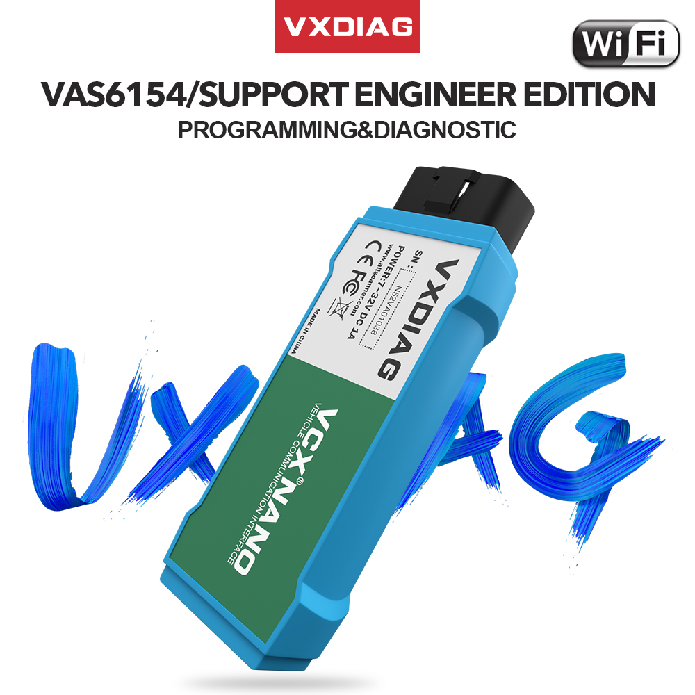 VXDIAG VCX NANO 6154 For ODIS V5.1.3/V5.1.5 For V-W OBD2 WIFI Car Diagnostic Tool Scanner Automotivo 6154A For Skoda For AUDI