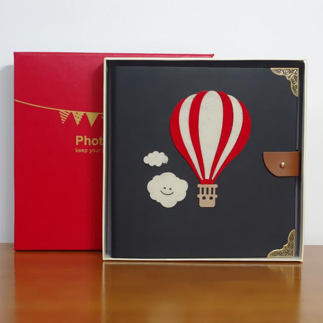 Boxed DIY manual album photo album the pasted album baby lovers hand hollow retro album
