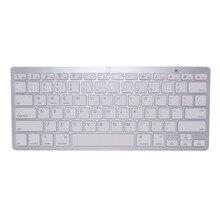 English Bluetooth font b Wireless b font font b Keyboard b font for iPad PC Notebook
