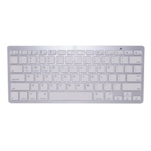 English Bluetooth Wireless Keyboard for iPad PC Notebook White