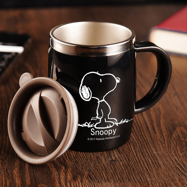 office cups. Office Cups 304 Stainless Steel Creative Mugs With Covers Coffee 400ML U