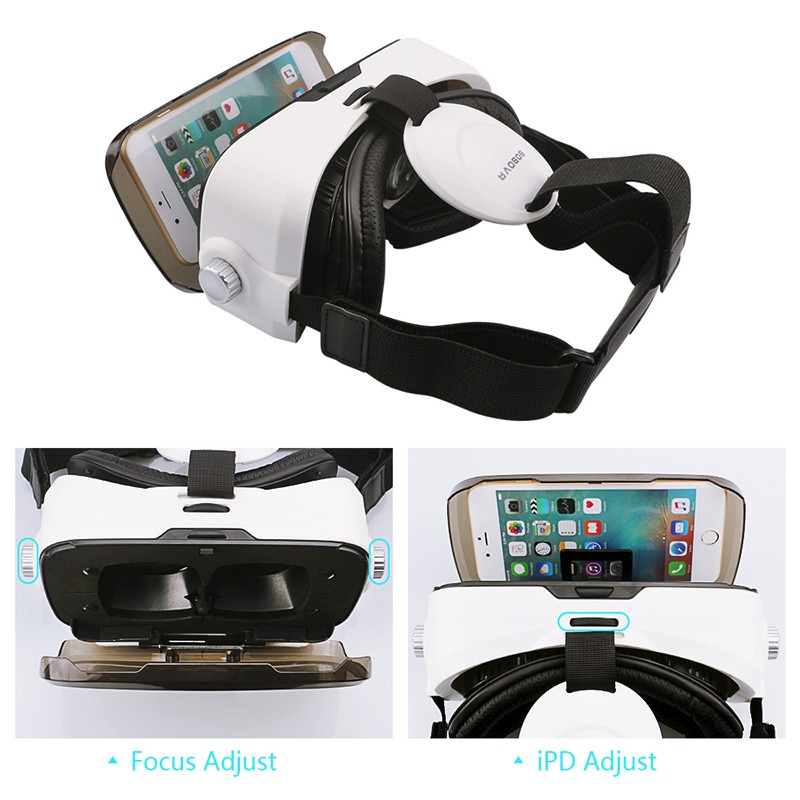Original BOBOVR Z4 mini 3D VR glasses virtual reality google Cardboard Helmet Headset Stereo BOBO VR BOX for 4-6'' Mobile Phone 7