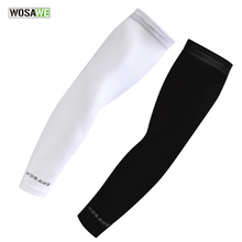 WOSAWE Arm Sleeve Cycling Basketball Sleeve Reflective Running Bicycle Quick Dry UV Protection Ice Fabric Summer Arm Warmers цены онлайн