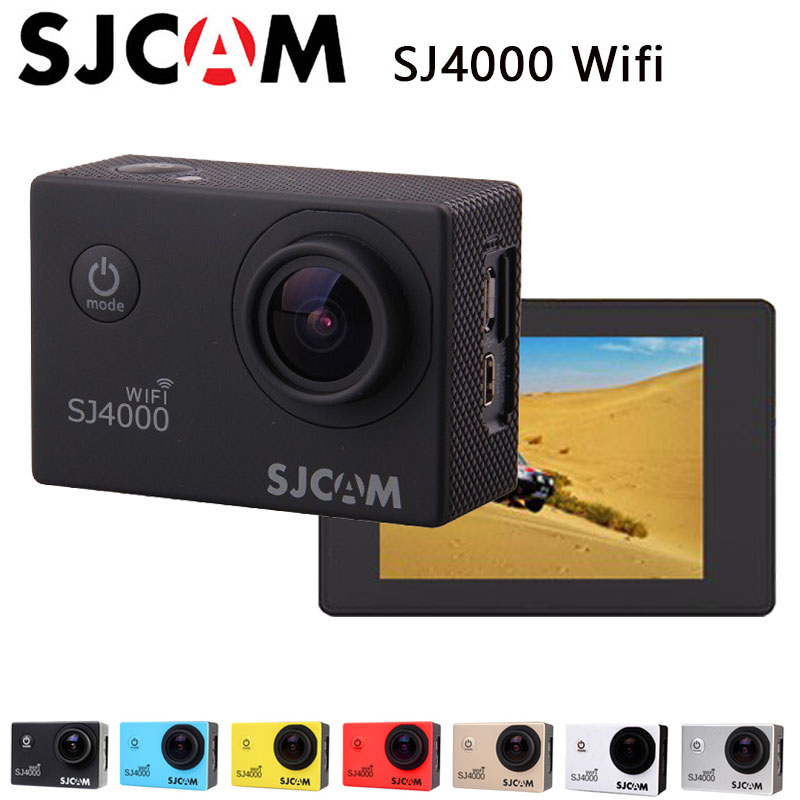 цена на Original SJCAM SJ4000 WIFI Action Sport Camera Diving 30M Waterproof Camera 1080P Full HD 12MP CMOS Camera Sports Cam Sport DV