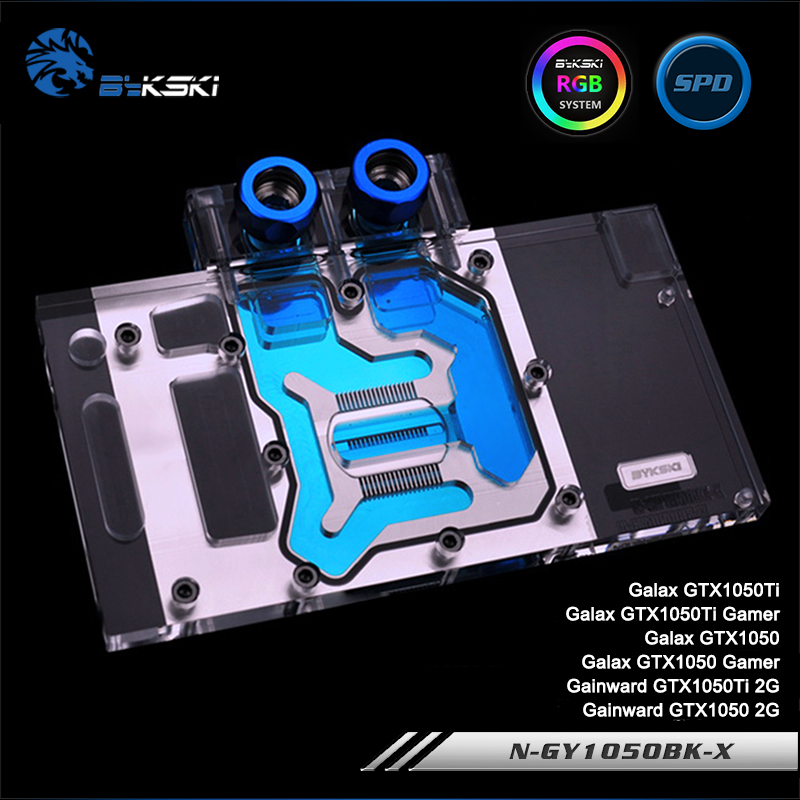 Bykski N-GY1050BK-X, Full Cover Graphics Card Water Cooling Block RGB/RBW for Galaxy GTX1050Ti/1050 ,Gainward GTX1050Ti/1050Bykski N-GY1050BK-X, Full Cover Graphics Card Water Cooling Block RGB/RBW for Galaxy GTX1050Ti/1050 ,Gainward GTX1050Ti/1050