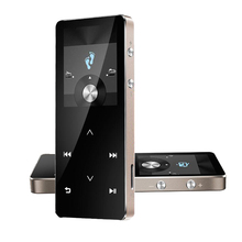 Pantalla táctil Bluetooth HiFi Reproductor MP3 Reproducción Continua durante 100 horas con Grabación de FM Podómetro Soporta tarjetas TF de hasta 128 GB