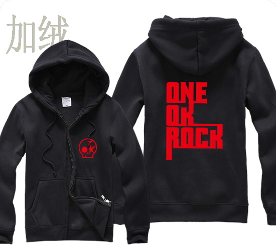 ectic new free shipping fashion autumn winter Rock one ok rock Taka Deeper Nothing Helps man men male full zip cardigan