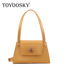TOYOOSKY Fashion Shoulder Bags for Women 2019 Fall Leather Solid Ladies Handbags Crossbody Bag Retro Shopping Small Tote