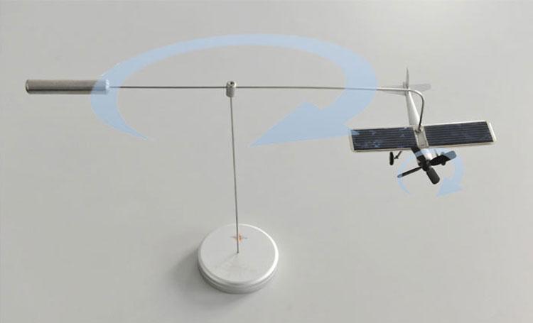 Αυτοκίνητα στολίδια Ηλιακό αεροπλάνο μοντέλο αεροσκάφους Solar Energe Εκπαιδευτικό σετ Δείξτε κιτ Νέα περιστροφή gyropter ιδέα