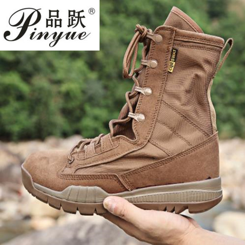 Military Tactical Boots Men Winter Motocycle Boots brown Combat Army Shoes For Men Botas Desert Safty