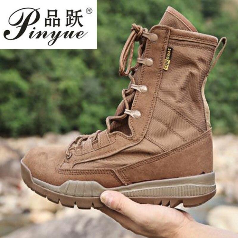 Bottes tactiques militaires hommes hiver moto bottes marron armée de Combat chaussures pour hommes Botas désert Safty noir travail chaussures