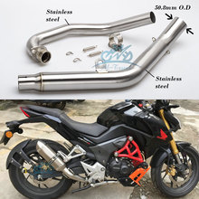 motorbike parts Modified Motorcycle Exhaust midle Pipe muffler For cbf190r exhaust CBF190R muffler