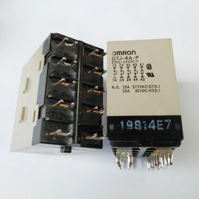 high power 24V relay G7J-4A-P 24VDC G7J-4A-P-24VDC G7J4AP 24VDC DC24V 24V 25A 277VAC 10PIN vc15 4a dc24v new in stock