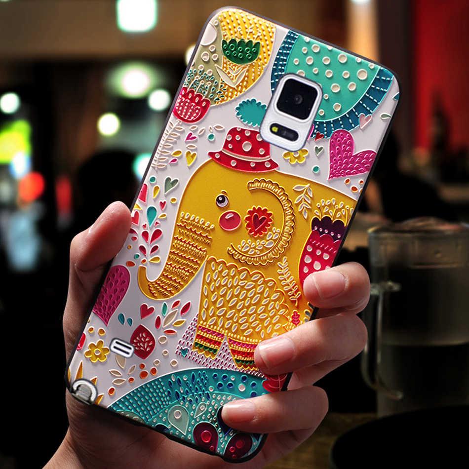 YonLinTan роскошный чехол, чехол, чехол для samsung Galaxy Note 4 Note4 задняя силиконовая 3D милый мобильный телефон оригинальные чехлы