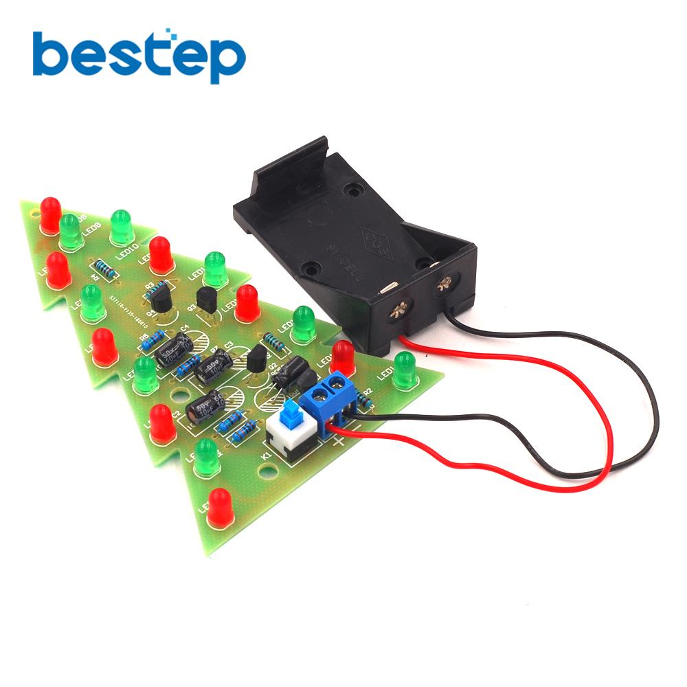 detail feedback questions about color christmas tree led water light flash  tree electronic diy production parts kit on aliexpress com | alibaba group