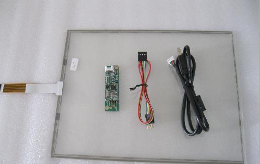 12,1 colio 260mm * 200mm jutiklinis ekranas 4 laidų varžinis jutiklinis ekranas su USB prievadu valdikliu + jutiklinės valdiklio kortelė + CD kambarys