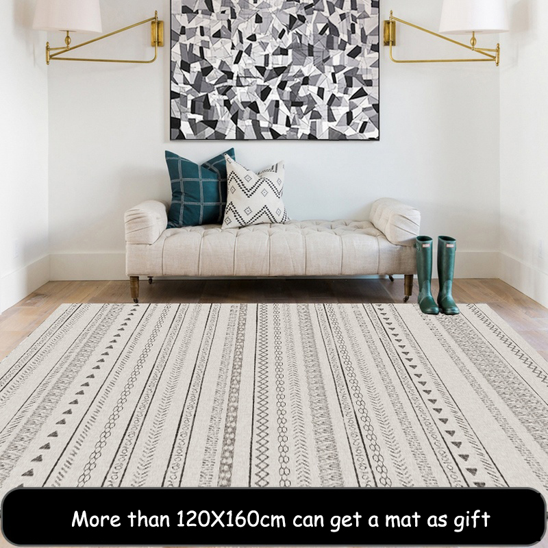 Nordic Creative Design Soft Carpets For Living Room Bedroom Rugs Home Rug For Living Room Floor Door Mat Anti-slip Large Mat Rug