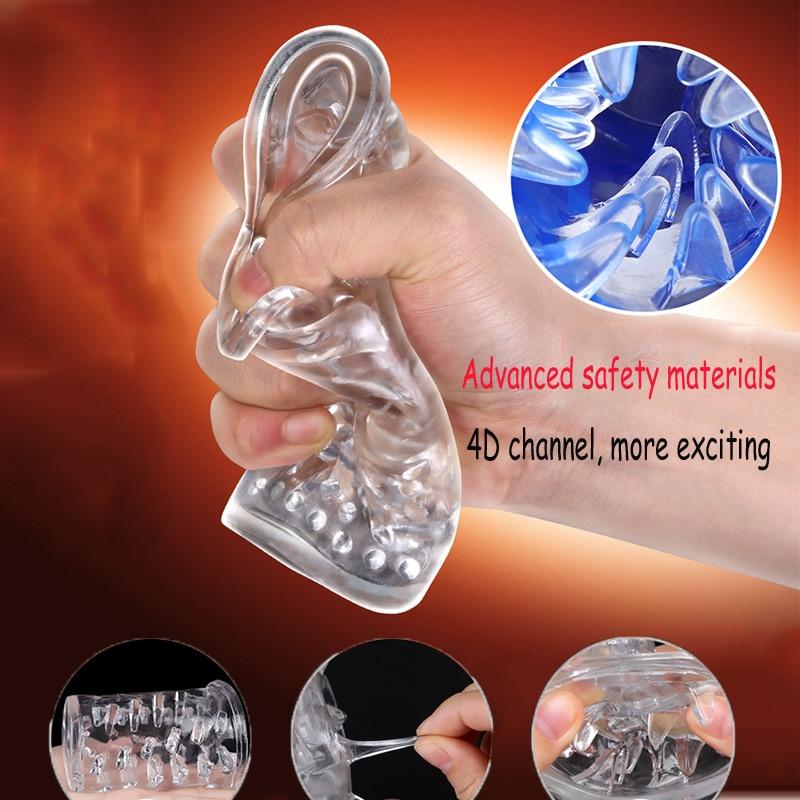 Automatische Drehen 4D Vagina Sex Spielzeug für Männer Echte Pussy Elektrische Männlichen Masturbator Intelligente Stimme Starken Vibrator Sex Produkte - 2