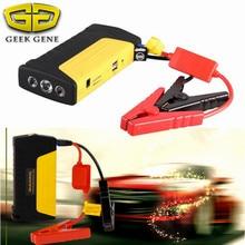 Geek Gene Multi-Function 12V Car Jump Starter Emergency 400A Peak Car Charger Mini 2USB Power Bank SOS Light Free Ship