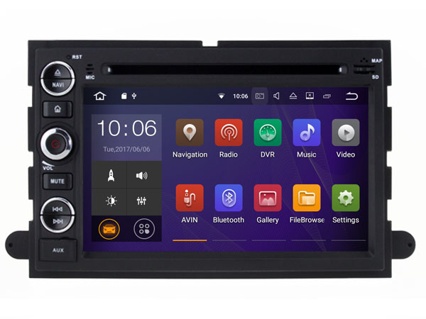 Navirider Android 8.0 radio tape recorder octa Core 4GB RAM 32GB rom with IPS screen for FORD EXPLORER F150 stereo head unit
