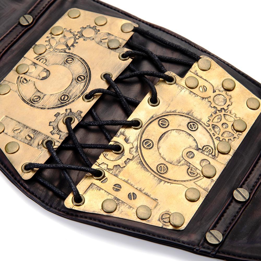 Image 5 - Gear Duke fashion belts Women Ladies Gothic Steampunk Cincher Lace up Waistband vintage Waist Cincher classic wide Elastic Waist-in Men's Belts from Apparel Accessories