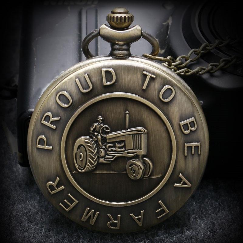 Vintage Bronze Tractor Design