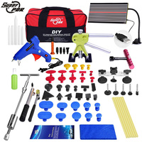 PDR tool kit Paintless Dent Repair Dent removal Tools LED Lamp Reflector Board slide hammer pulling bridge glue gun for car tool