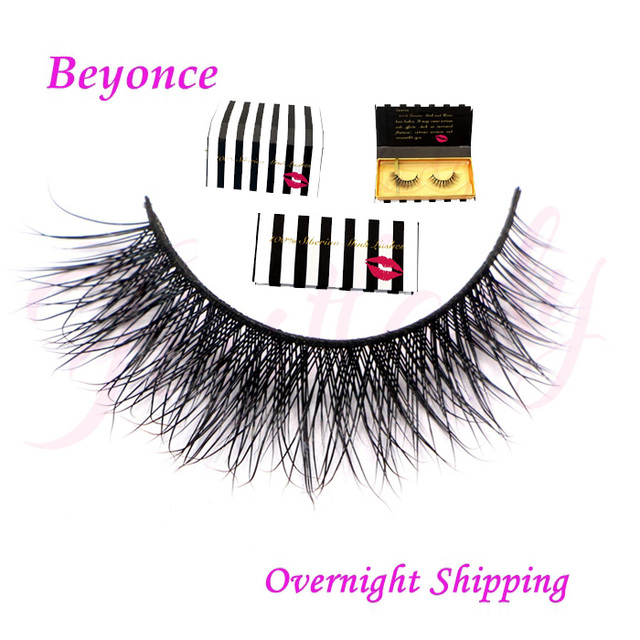 Free shipping hot sell handmade 100% real mink strip lashes with luxury packaging